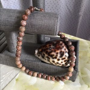Bronzite gemstone necklace